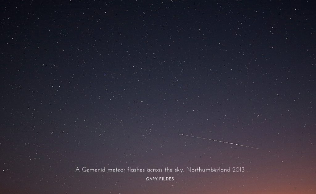 meteor sightings northumberland